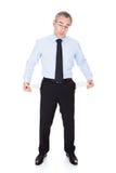 Homem de negócios com bolso vazio Foto de Stock