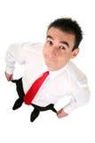 Homem de negócios com bolsos vazios fotos de stock royalty free