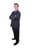 Homem de negócios com braços cruzados imagens de stock