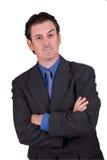 Homem de negócios com braços cruzados imagem de stock royalty free