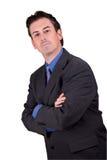 Homem de negócios com braços cruzados imagem de stock