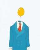 Homem de negócios com cabeça de balão ilustração royalty free