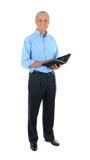 Homem de negócios com caderno Imagens de Stock