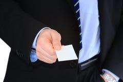 Homem de negócios com cartão Imagens de Stock