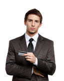 Homem de negócios com cartão de crédito imagem de stock royalty free