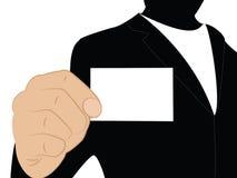 Homem de negócios com cartão vazio Imagem de Stock