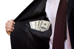 Homem de negócios com dinheiro Fotografia de Stock