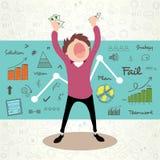 Homem de negócios com elementos infographic Fotos de Stock Royalty Free