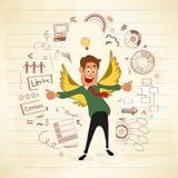 Homem de negócios com elementos infographic Foto de Stock
