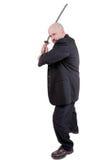 Homem de negócios com katana Imagens de Stock Royalty Free