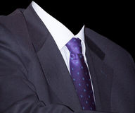 Homem de negócios com laço roxo Fotos de Stock Royalty Free