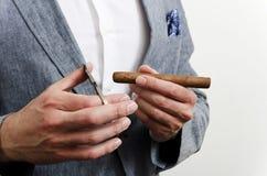 Homem de negócios com lenço Imagens de Stock Royalty Free