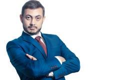 Homem de negócios com mãos dobradas Foto de Stock