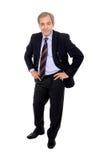 Homem de negócios com mãos em seus quadris imagem de stock royalty free