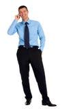 Homem de negócios com móbil Imagens de Stock
