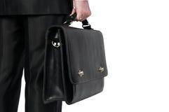 Homem de negócios com mala de viagem Fotos de Stock