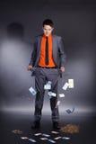 Homem de negócios com o bolso vazio das calças Foto de Stock Royalty Free