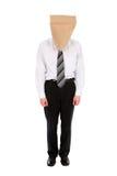 Homem de negócios com o saco de papel aéreo Imagens de Stock Royalty Free
