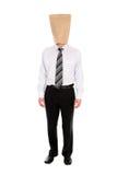 Homem de negócios com o saco de papel aéreo Fotografia de Stock