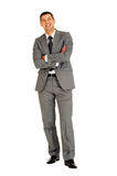Homem de negócios com os braços dobrados Fotografia de Stock Royalty Free