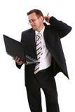 Homem de negócios com parte superior do regaço Imagem de Stock Royalty Free