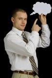 Homem de negócios com pensamentos Imagens de Stock Royalty Free