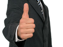 Homem de negócios com polegar acima Imagem de Stock Royalty Free