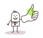 Homem de negócios com polegar acima ilustração do vetor