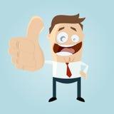 Homem de negócios com polegares acima Imagem de Stock