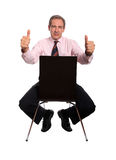 Homem de negócios com polegares acima Fotos de Stock Royalty Free