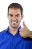 Homem de negócios com polegares acima foto de stock royalty free