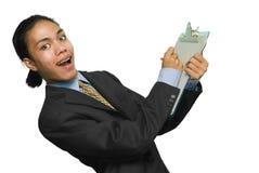 Homem de negócios com prancheta Foto de Stock