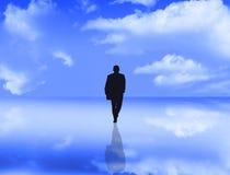 Homem de negócios com reflexão Fotografia de Stock
