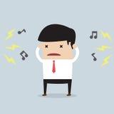 Homem de negócios com ruído Foto de Stock Royalty Free
