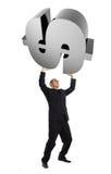 Homem de negócios com sinal de dólar 3d Imagens de Stock Royalty Free