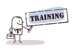 Homem de negócios com sinal do treinamento ilustração stock