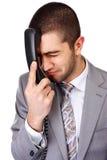 Homem de negócios com telefone fotos de stock
