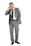 Homem de negócios com telefone móvel Fotografia de Stock