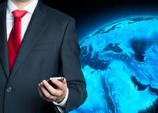 Homem de negócios com telemóvel Imagens de Stock