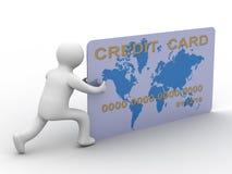 Homem de negócios com um cartão de crédito Imagens de Stock Royalty Free