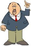 Homem de negócios com um cavanhaque que aponta acima ilustração stock