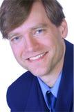 Homem de negócios com um grande sorriso Imagens de Stock