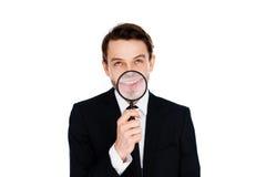 Homem de negócios com um sorriso ampliado Fotografia de Stock
