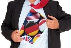 Homem de negócios com várias nacionalidades Fotos de Stock Royalty Free