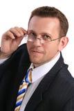 Homem de negócios com vidros Foto de Stock