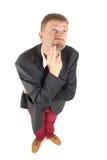 Homem de negócios com vista engraçada Foto de Stock Royalty Free
