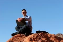 Homem de negócios confiável bem sucedido fotografia de stock