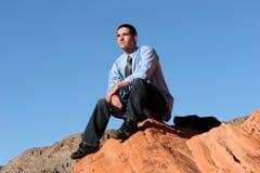 Homem de negócios confiável bem sucedido foto de stock royalty free
