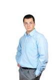 Homem de negócios confiável isolado no branco Imagem de Stock Royalty Free