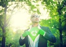 Homem de negócios conservador Environmental Forest Concept fotos de stock royalty free